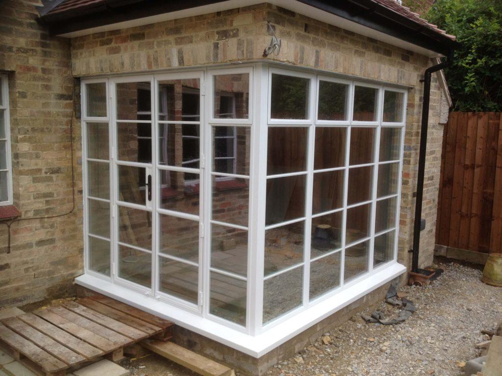 steel windows and double door and side screen