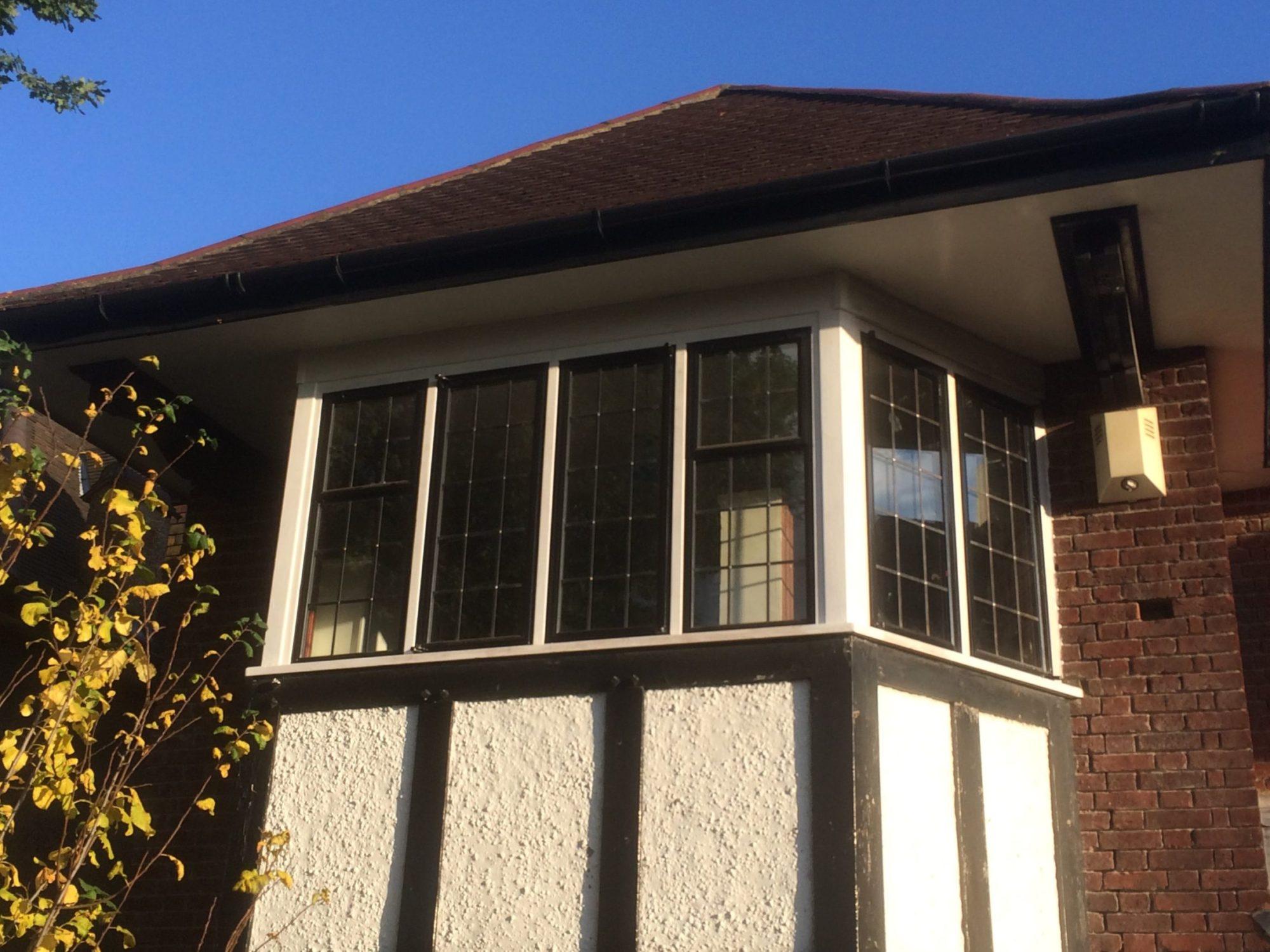 black leaded metal windows