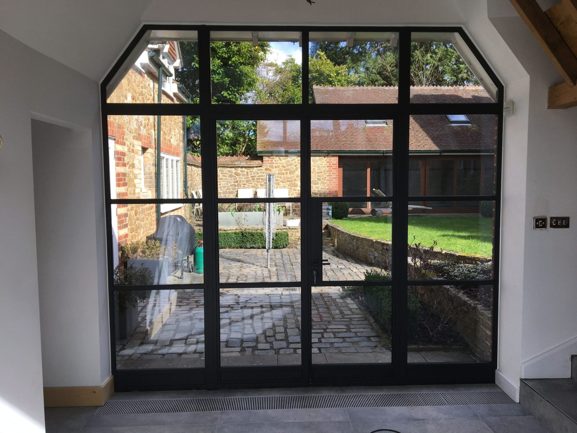 black steel windows and door uk and screen